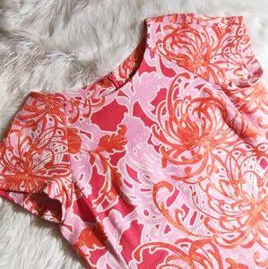 Taylor Midi Pink & Orange Dress